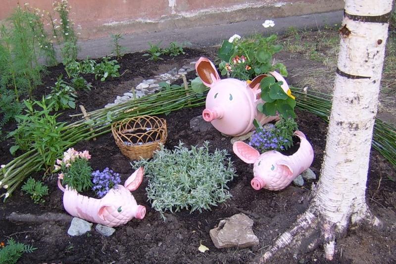 Поделки своими руками для украшения сада фото